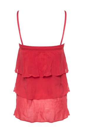 Rosso Red frill top by GUESS MARCIANO- Back
